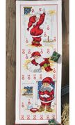 Permin Barn Elves Advent Christmas Cross Stitch Kit