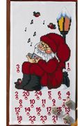 Permin Singing Santa Advent Christmas Cross Stitch Kit
