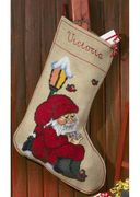 Reading Santa Stocking - Permin Cross Stitch Kit