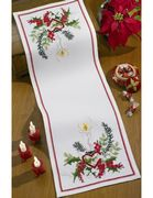 Permin Christmas Candle Runner Cross Stitch Kit