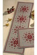Permin Snowflake Circle Runner Christmas Cross Stitch Kit