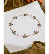 Cardinal and Berries Tablecloth - Permin Embroidery Kit