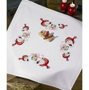 Elves and Present Tablecloth - Permin Embroidery Kit