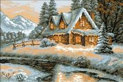 RIOLIS Winter View Christmas Cross Stitch Kit