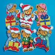 Design Works Crafts Little Christmas Bears Cross Stitch Kit