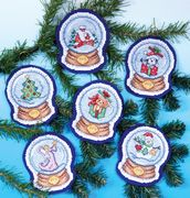 Design Works Crafts Snow Globes Ornaments Cross Stitch Kit
