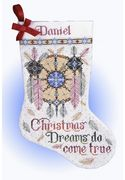 Design Works Crafts Christmas Dreams Stocking Cross Stitch Kit