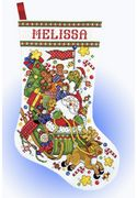 Santa Sleigh Stocking - Design Works Crafts Cross Stitch Kit