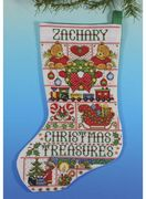 Christmas Treasures Stocking - Design Works Crafts Cross Stitch Kit
