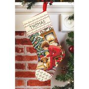 Janlynn Waiting for Santa Stocking Cross Stitch Kit
