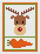 Sew Simple Rudolph - Fat Cat Cross Stitch Kit