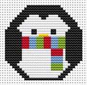 Sew Simple Penguin - Fat Cat Cross Stitch Kit