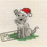 Mouseloft Little Dogs Christmas Christmas Card Making Cross Stitch Kit