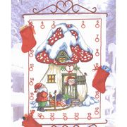 Santa Toadstool Calendar - Permin Cross Stitch Kit