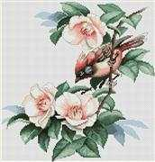 Luca-S Bird in Flowers Cross Stitch Kit