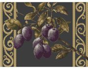 Plums on Black - Luca-S Cross Stitch Kit