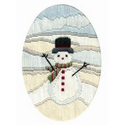 Frosty Snowman - Derwentwater Designs Cross Stitch Card Design