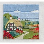 Derwentwater Designs Poppy Cottage Long Stitch Kit