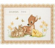 Baby Animal Birth Record - Anchor Cross Stitch Kit