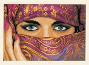 Lanarte Mysterious Eyes - Aida Cross Stitch Kit