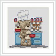 Bruno in the Kitchen - Luca-S Cross Stitch Kit