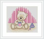 Luca-S Baby Bianca Birth Sampler Cross Stitch Kit