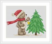 Luca-S Time to Decorate the Tree Cross Stitch Kit