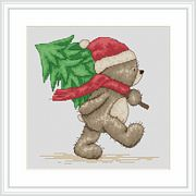 Bruno Brings the Tree - Luca-S Cross Stitch Kit