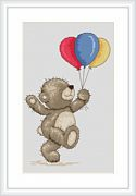 Bruno with Balloons - Luca-S Cross Stitch Kit