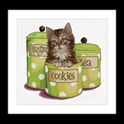 Kitten in a Cookie Jar - Thea Gouverneur Cross Stitch Kit