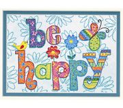 Dimensions Be Happy Cross Stitch Kit