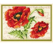 Poppy Pair - Dimensions Cross Stitch Kit