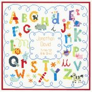 Dimensions Alphabet Birth Record Birth Sampler Cross Stitch Kit