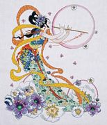 Flute Player - Design Works Crafts Cross Stitch Kit