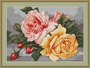 Luca-S Roses Cross Stitch Kit
