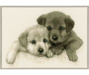 Vervaco Puppies Cross Stitch Kit