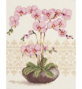 Vervaco Pink Orchid Cross Stitch Kit