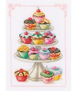Vervaco Cupcake Anyone? Cross Stitch Kit