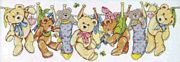 On The Line Teddies - Design Works Crafts Cross Stitch Kit