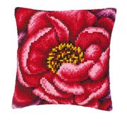 Vervaco Pink Rose Close Up Cross Stitch Kit