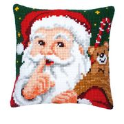 Vervaco Father Christmas Cushion Cross Stitch Kit