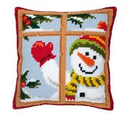 Snowman Window - Vervaco Cross Stitch Kit
