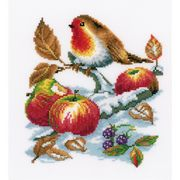 Vervaco Robin's Treasure Cross Stitch Kit