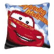 Vervaco Lightning McQueen Cushion Cross Stitch Kit