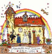 Cut Thru Wedding - Bothy Threads Cross Stitch Kit