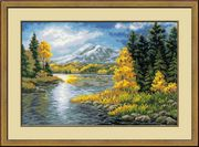 RIOLIS Mountain Lake Cross Stitch Kit