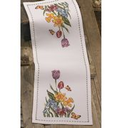 Daffodil and Tulip Runner - Permin Cross Stitch Kit