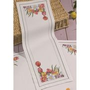 Spring Flowers Runner - Permin Cross Stitch Kit