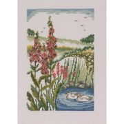 Duckpond and Foxgloves - Permin Cross Stitch Kit
