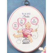 Girl Scales Sampler - Permin Cross Stitch Kit